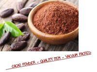 1Kg Organic Raw Cacao Powder - Pure Powder - Vacuum Packed - Free post