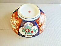 Vintage Japanese Imari Porcelain Large Bowl Asian Art  Motif 11'' W ~ 4 3/8''T