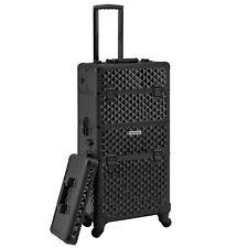 Kosmetikkoffer komplett schwarz Trolley Friseurkoffer Beauty Case + Deckel