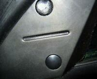MG TF MGF  5 NEW INTERIOR DOOR MIRROR SCREW COVER BLANKS FINISH TRIM ALL MODELS