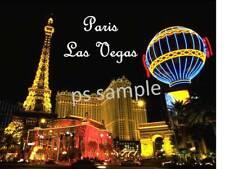 LAS VEGAS - PARIS HOTEL - Travel Souvenir Flexible Fridge Magnet