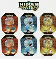 Pokemon Hidden Fates Case Of 6 Tins - Brand New & Sealed - Charizard - Raichu