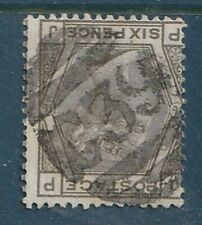 GB used abroad in COBIJA BOLIVIA C39 6d grey plate 16 3VOS cancel. GREAT RARITY!