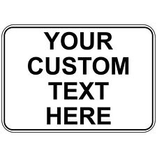 Your Custom Text Here Osha Metal Aluminum Sign