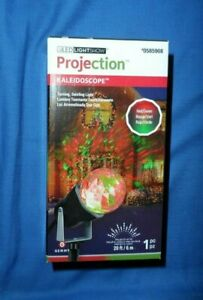 Gemmy LED Light Show Projection Kaleidoscope CHRISTMAS  Red & Green NEW