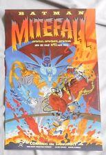 1994 DC COMICS BATMAN MIGHTFALL  Promo  Poster 17x11