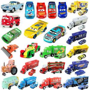 Pixar Cars 3 2 1 Racers No.95 McQueen 1:55 Diecast Metal Toy Car Model Kids Gift