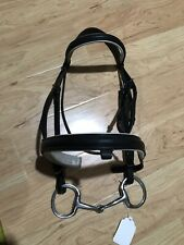 Dressage Bridle, 5� Bit, and Reins, Full Horse Size White Padding