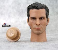 "1/6 Scale BATMAN Bruce Wayne Christian Bale Head For 12"" Figure Hot Toys"
