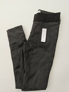 TOPSHOP Maternity Under The Bump Joni Jeans in Grey Wash - SIZE W30 L34 (UK12)
