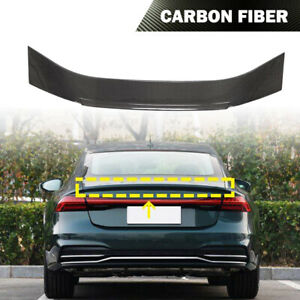 Fit For Audi A7 S7 RS7 2019UP Rear Trunk Spoiler Boot Wing Lip Carbon Fiber
