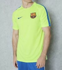 BNWT Men's Nike Barcelona Training Football Shirt Large Yellow New Dri-Fit