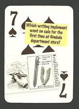 Ball Point Pen On Sale Gimbels Department Store Neat Playing Card #5Y4