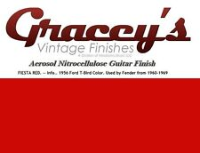 -Fiesta Red- Gracey's Vintage Finishes Nitrocellulose Guitar Lacquer Aerosol.
