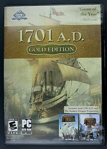 1701 A.D. - Gold Edition (PC, 2008) *Includes The Sunken Dragon Expansion*  DVD
