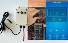 Electric KWh Smart Meter single phase up to 3 phase. WEB via WiFi. External CTs