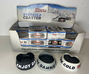 Limited Edition Coors Light Stay Cold Coaster Set Of 3 Random Colours