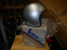 NOS Vintage Cafe Buco Solid Silver Fiberglass Medium Motorcycle Helmet 1759-2
