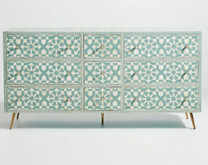 Bone inlay dresser side board Chest of drawer Dresser