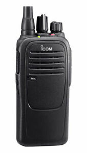 ICOM F1000 Waterproof VHF 16 Ch 136-174MHz Two Way Radio w/ Software & Cable