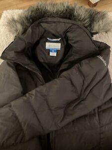 Columbia Womens Jacket Small Green Removable Fur Hood