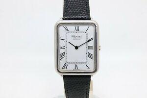 Chopard 18k White Gold Gents, Manual Wind Rectangular Wristwatch.