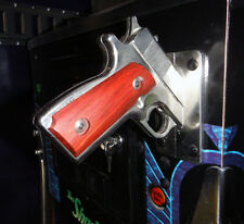New! Artist Made Wood Gun Grips for Shadow Pinball Machine! Stickman Must Have--