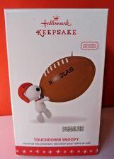 Hallmark 2016 Touchdown Snoopy Peanuts Football Ornament Personalizable
