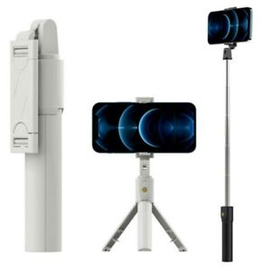 Extendable LED Selfie Stick Tripod Wireless Remote Stand Fr iPhone 11 12 Pro Max