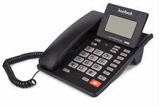 TELEFONO FIJO SOBREMESA CON CABLE PANTALLA LCD IDENTIFICADOR DE LLAMADAS MEMORIA