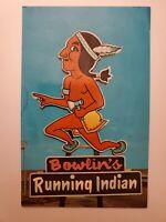 Vintage Post Card Running Indian