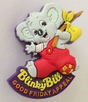 Blinky Bill Yoram Gross Good Friday Appeal Rubber Pin Badge Authentic Rare (D10)