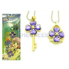 Shugo Chara Lock and key Modelling Lovers Pendant Necklace purple Accessories