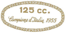 ADESIVO ORIGINALE MONDIAL 125 CHAMPION 1956 57 SERBATOIO FORCELLE DECAL STICKERS