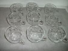 BLEIKRISTALL reale - 9 pezzi mano lucidata bicchieri con manico NUOVO