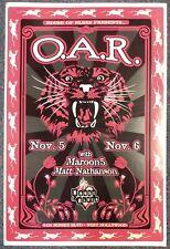 O.A.R. Maroon 5 Matt Nathanson 2002 Poster Numbered Signed Darren Grealish