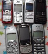 Joblots Paquet de 7 Divers Nokia Mobile Téléphones non testées voir photo et notes
