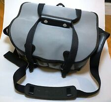 Billingham 225 Grey Canvas Black Leather Chrome Fittings Limited Camera Bag