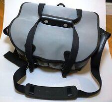 Billingham 225 Grey Canvas Black Leather Chrome Fittings Limited Camera Bag