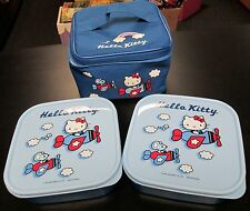 HELLO KITTY SANRIO 3 PC SOFT SIDED LUNCH BOX SET BAG & 2 STORAGE CONTAINERS