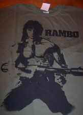 VINTAGE STYLE RAMBO T-Shirt SMALL ARMY GREEN NEW