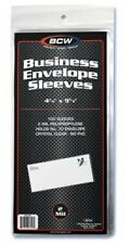 2500 BCW Business Envelope #10 Archival 2-Mil Soft Poly Sleeves acid free covers