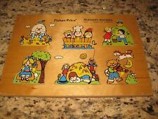 Vintage Fisher Price Nursery Rhymes Wooden Puzzle #510 1971-1972  6 Pieces