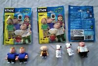K'nex Family Guy 6 Figures includes Stewie, Peter, 2 of Brian & 2 of Chris