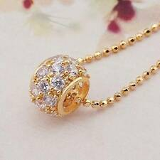 LADIES GOLD PLATED RHINESTONE CRYSTAL BEAD NECKLACE & CHAIN