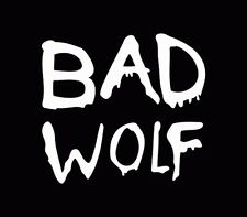 Doctor Who Bad Wolf Vinyl window car truck sticker decal funny JDM White