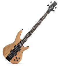 Rocktile Pro LB104-N Bass  E-Bass natural 2 Humbucker Tiefschwarze Hardware TOP!