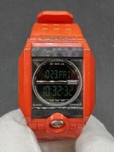 C asio G-Shock G-8100-4 Red Digital Watch Negative Display Rare