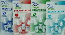 4 Flavors 12 Bottles Of Oral Labs Sugar Free Ice Drop Breath Drops NIP
