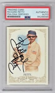 2012 Topps Allen & Ginter Richard Petty Signed Trading Card #61 PSA/DNA